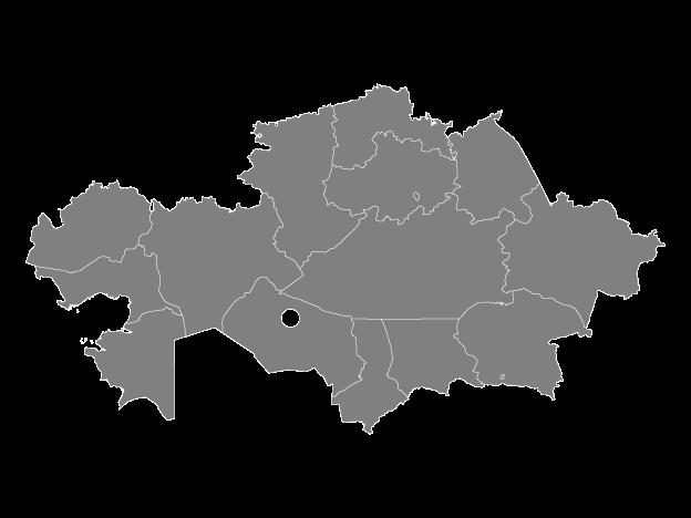 Vector Maps of Kazakhstan.