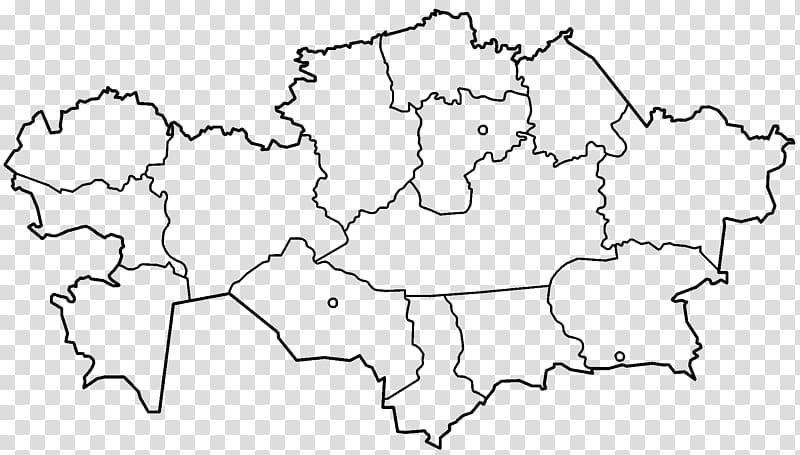 Regions of Kazakhstan Almaty Mapa polityczna Locator map, map.