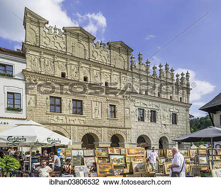 """Stock Photo of """"Stately home on the main square, Cholewianka."""