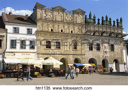 Stock Image of Burgher Houses, Old Town, Market Square, Kazimierz.