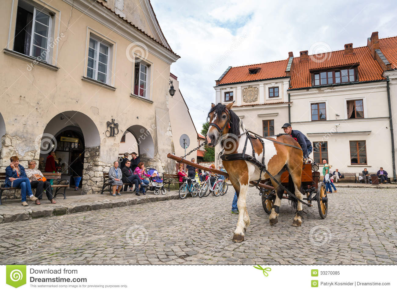 Old Town Of Kazimierz Dolny In Poland Editorial Image.