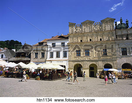 Stock Photo of Burgher Houses, Old Town, Market Square, Kazimierz.
