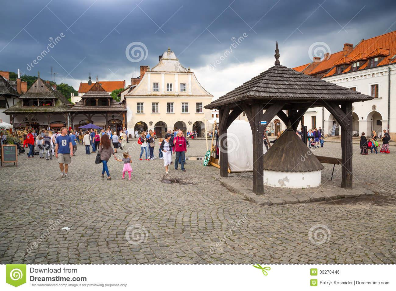 Old Town Of Kazimierz Dolny In Poland Editorial Photo.