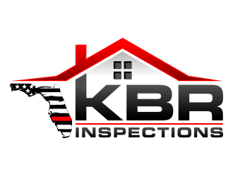 KBR Inspections logo design.