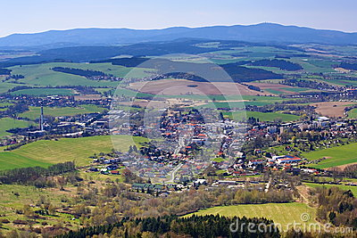The Town Of Kdyně, Bohemian Forest, Czech Republic Stock Photo.