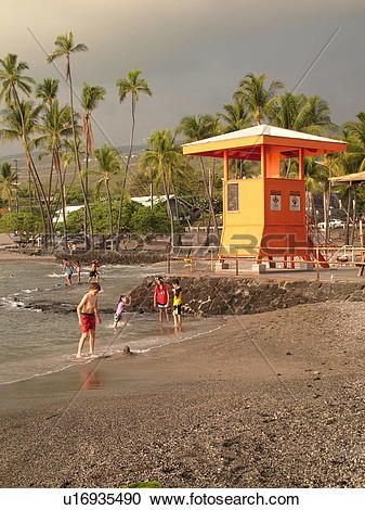 Stock Photography of Keauhou, Big Island, Island of Hawaii, HI.