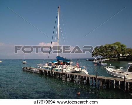 Stock Photo of South Kona, Big Island, Island of Hawaii, HI.