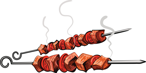 Kabab Clipart.
