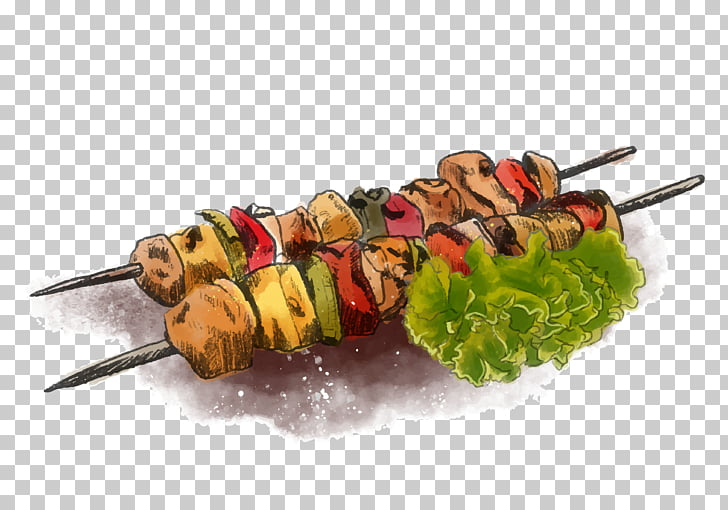 Barbecue grill Kebab Skewer, Food free PNG clipart.