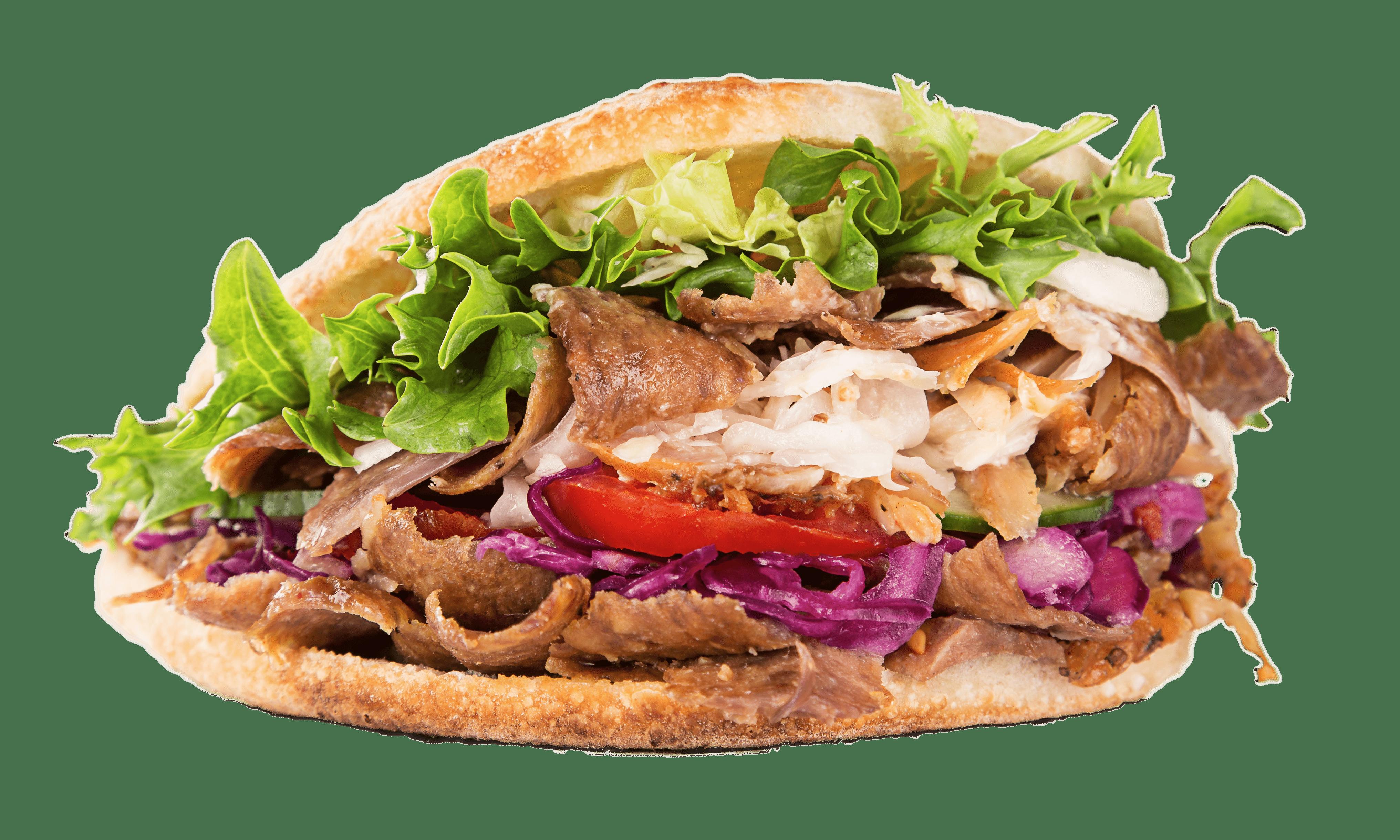 Kebab Sandwich transparent PNG.