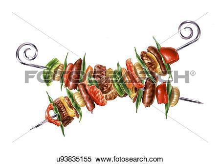 Kebab Illustrations and Clipart. 249 kebab royalty free.
