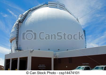 Stock Photography of W. M. Keck Observatory.