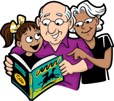 grandparents read — Keck Memorial Library.