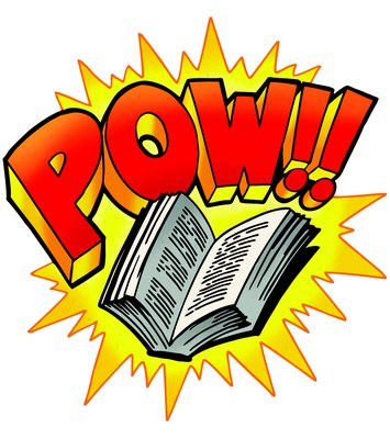 Every Hero Has a Story! Pow open book — Keck Memorial Library.