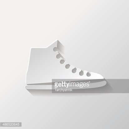 Casual keds, gym shoes icon Clipart Image.