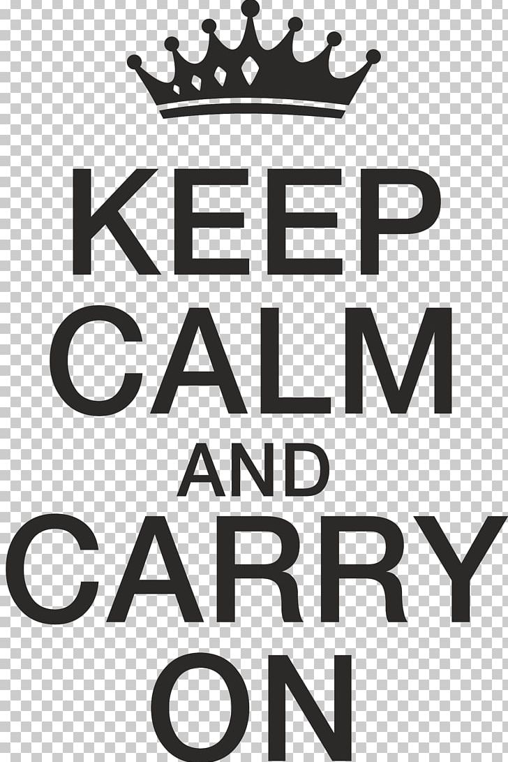 Wall Decal Logo Keep Calm And Carry On PNG, Clipart, Area, Black.
