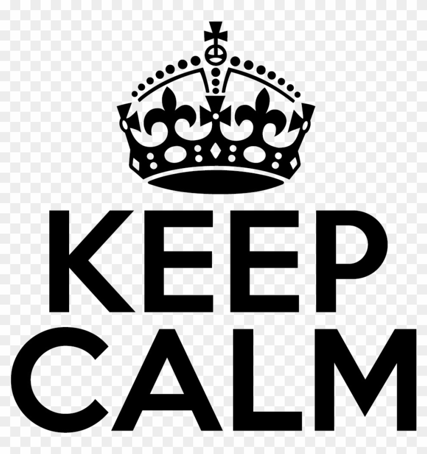 Keep Calm Crown Png Clipart.
