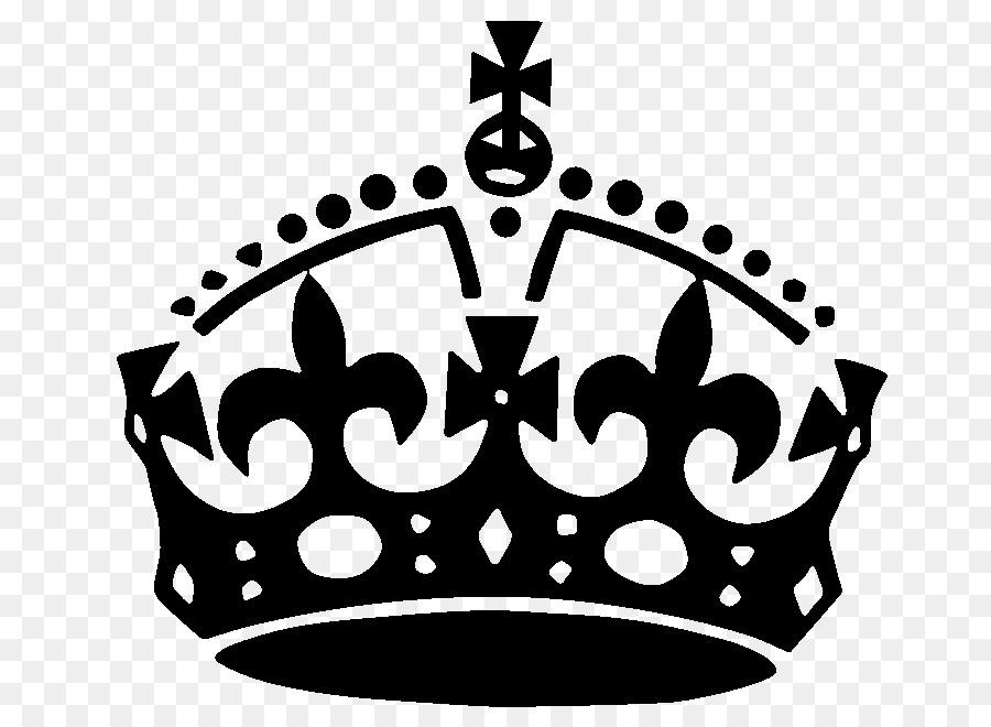 Keep Calm Crown clipart.