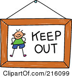 Keep out clip art.