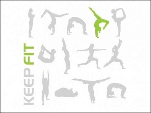 Yoga Clip Art Keep Fit.