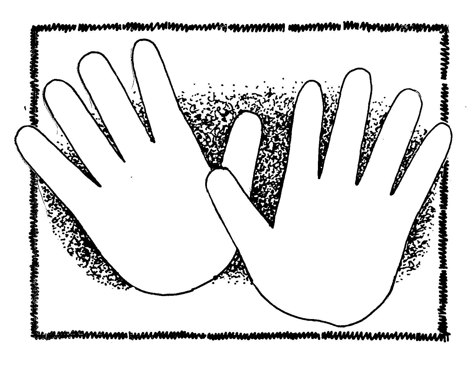 Keep Hands And Feet To Yourself Clipart.