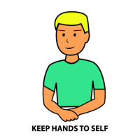 Hands To Self Clipart.