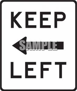 "Keep Left"" Clipart Picture."