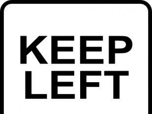 Left Only Direction clip art.