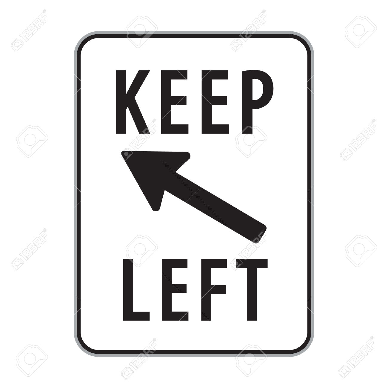 Keep Left Sign Royalty Free Cliparts, Vectors, And Stock.