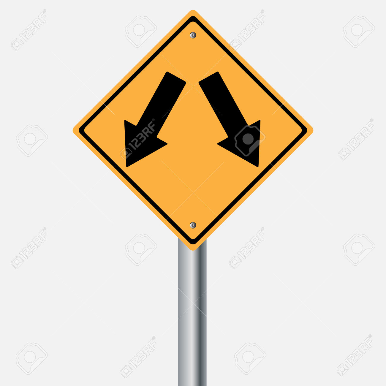 Traffic Sign . Keep Left Keep Right Royalty Free Cliparts, Vectors.