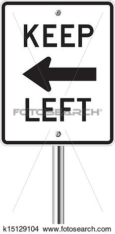 Clipart of Keep left traffic sign k15129104.