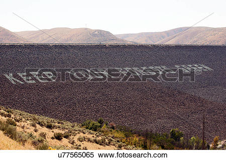 Stock Image of keep forrests green dam lucky peak lake idaho id.