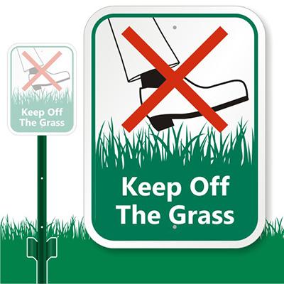 Keep Off The Grass Clipart.