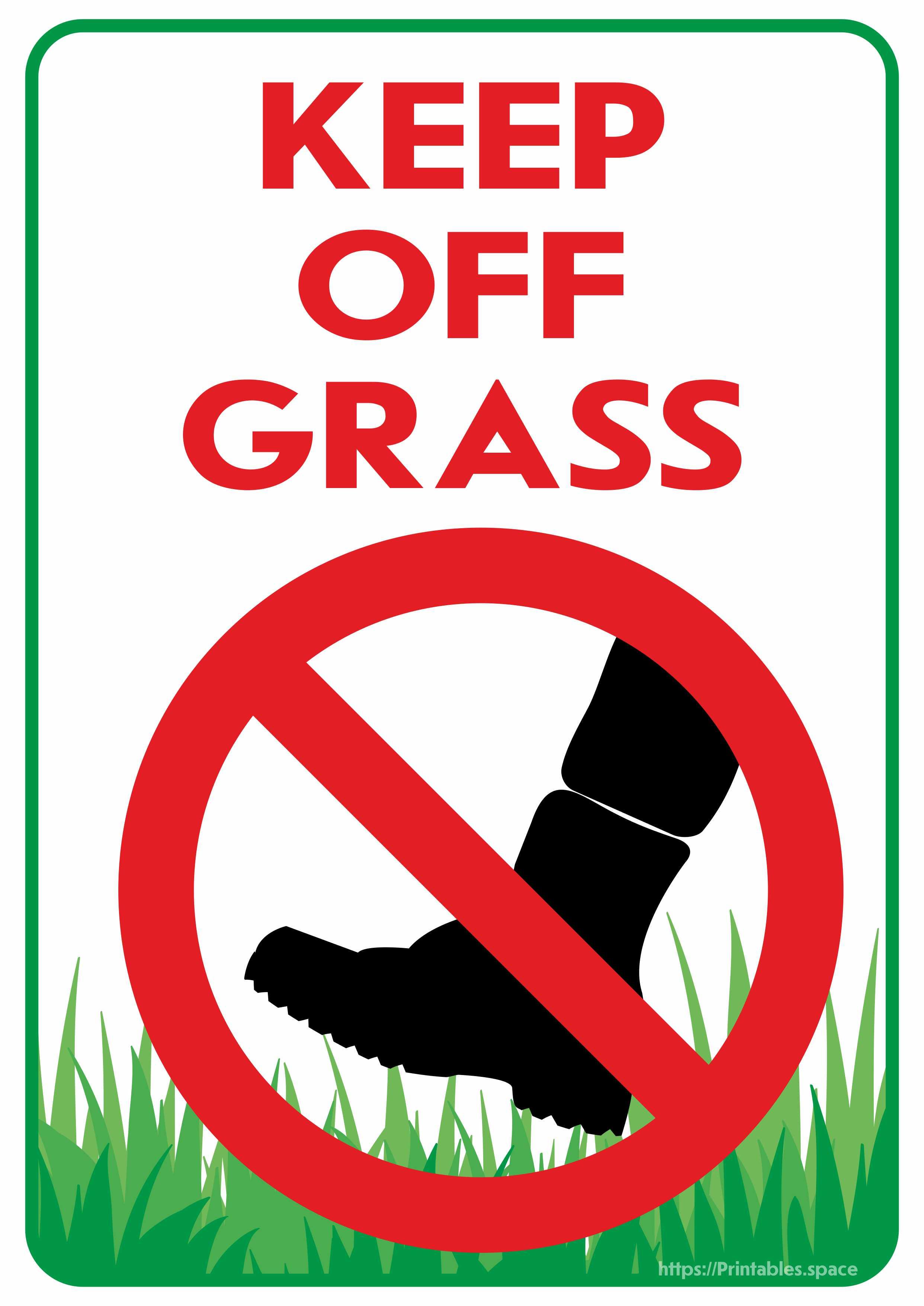 Keep Off Grass Sign.