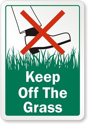 Amazon.com: Keep Off The Grass (with Graphic) Aluminum Sign.