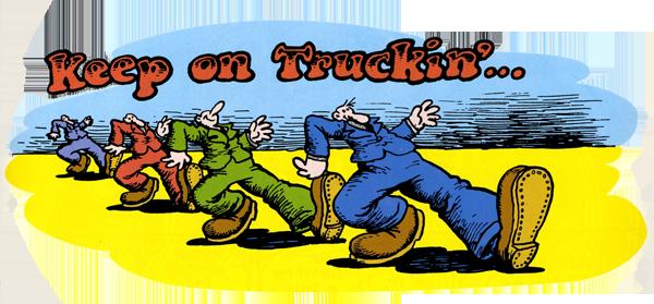 keep on truckin logo.