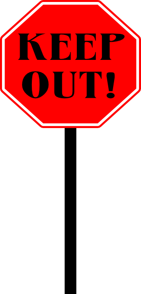 Stop Keep Out Sign Clip Art at Clker.com.