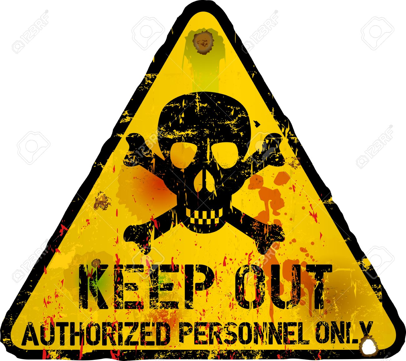 Keep Out Sign, Warning Prohibition Sign Royalty Free Cliparts.