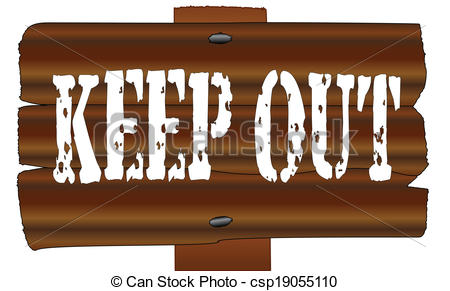 Vector Clip Art of Wooden Sign.