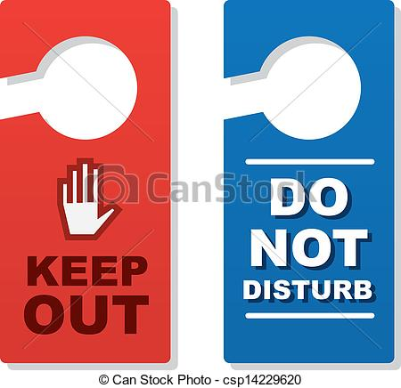 Vector Illustration of Door Signs Keep Out.