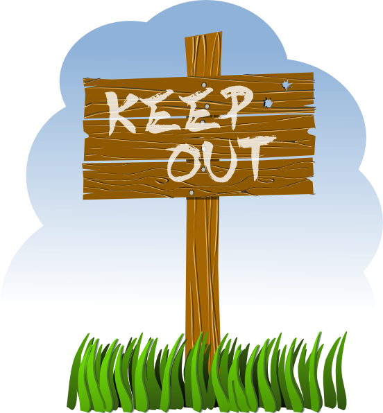 Keep Out Clipart.