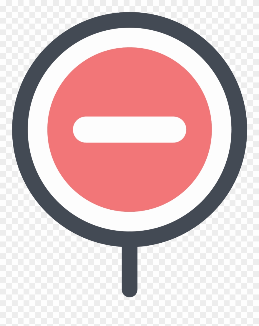 It\'s A Logo Of No Entry Reduced To A Rectangle Enclosed.