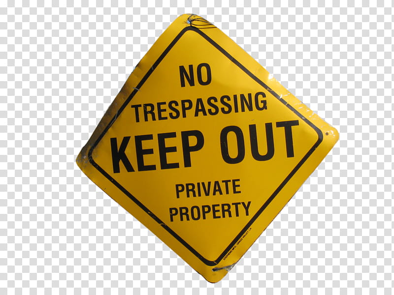 KEEP OUT SIGNS transparent background PNG clipart.