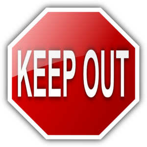 Keep Out Sign Clip Art.