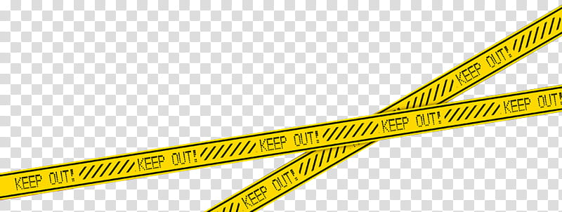 Crime Scene Tape, yellow and black keep out tape.