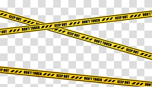 Crime Scene Tape, yellow Keep out tape transparent.
