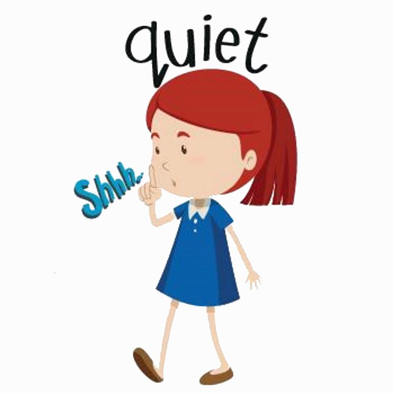 Be Quiet Clipart.