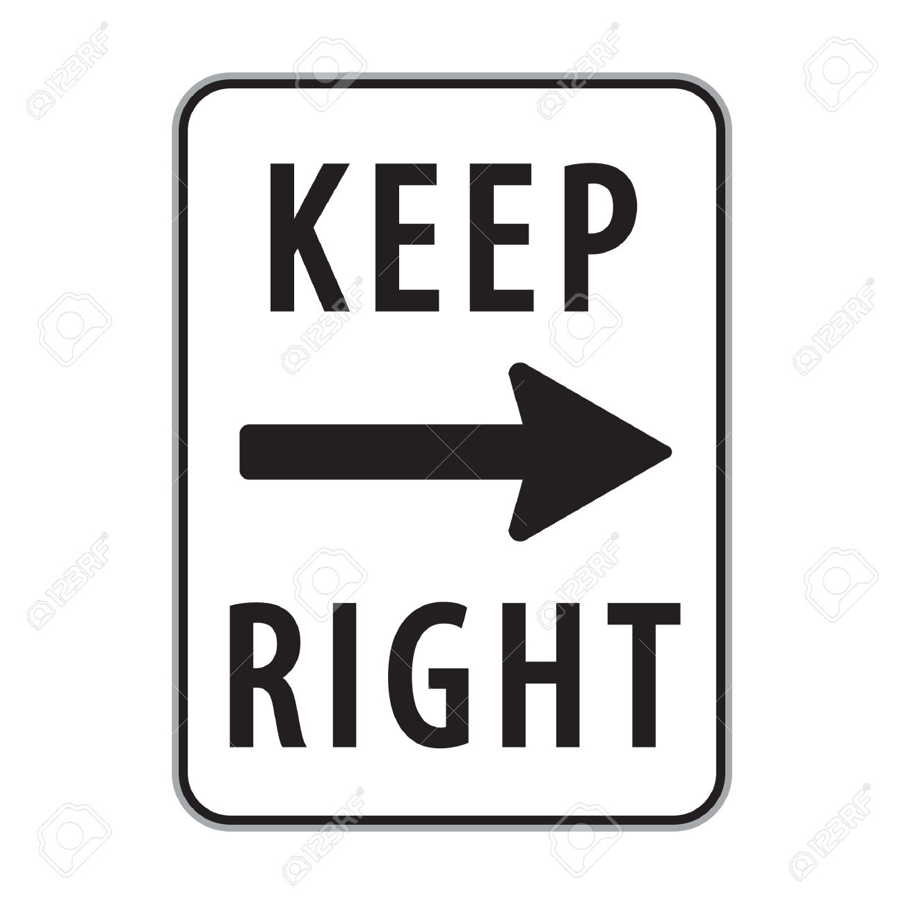 Keep Right Sign Royalty Free Cliparts, Vectors, And Stock.