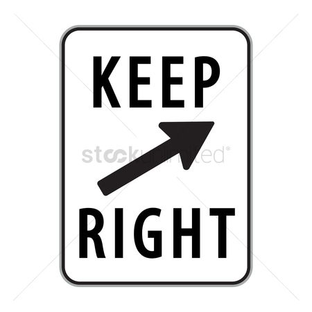 Free Keep Right Stock Vectors.
