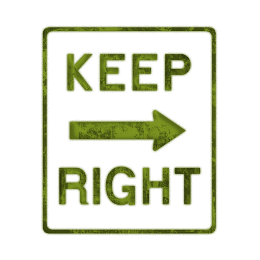 Keep Right Icon #092871 » Icons Etc.